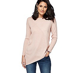 RJR.John Rocha - Light pink asymmetric jumper