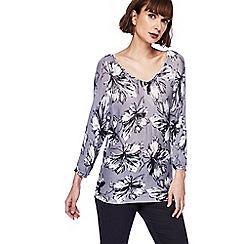 RJR.John Rocha - Grey floral print jumper