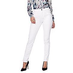 RJR.John Rocha - White 'Brooke' high-waisted slim leg jeans