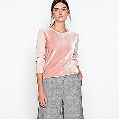 RJR.John Rocha - Pink velvet front jumper