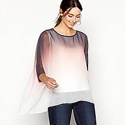 RJR.John Rocha - Light pink asymmetric ombre chiffon long sleeve top