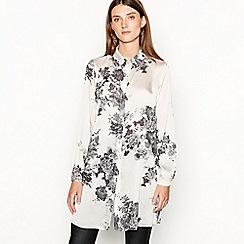 RJR.John Rocha - Natural 'Lizbeth' longline floral print shirt