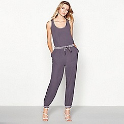 RJR.John Rocha - Dark purple satin jumpsuit