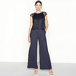 2a122be19e5bf John Rocha - Navy lace sleeveless jumpsuit