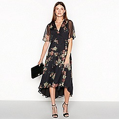 RJR.John Rocha - Black floral print 'Lizbeth' wrap maxi dress