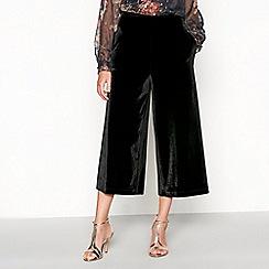 RJR.John Rocha - Black velvet cropped culottes