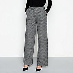 RJR.John Rocha - Grey tweed high waisted wide leg trousers