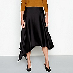 RJR.John Rocha - Black satin asymmetric skirt