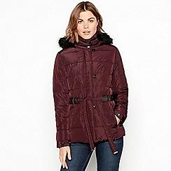 RJR.John Rocha - Plum padded belted coat