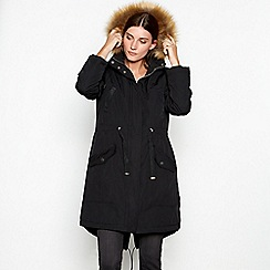 RJR.John Rocha - Black fleece lined hooded parka jacket