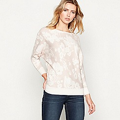 RJR.John Rocha - Light pink floral pattern long sleeve jumper