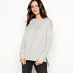RJR.John Rocha - Light grey back button jumper