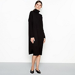 RJR.John Rocha - Black knit roll neck midi dress