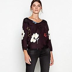 RJR.John Rocha - Plum 'Amelia' floral print jumper