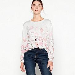 RJR.John Rocha - Light grey floral cotton 'Isla' jumper
