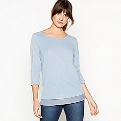 RJR.John Rocha - Light Blue Chiffon Trim Top