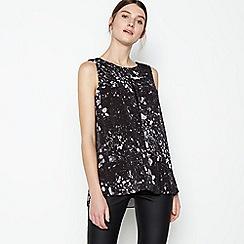RJR.John Rocha - Black Marble Print Vest Top