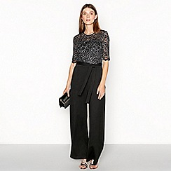 RJR.John Rocha - Black floral embroidered lace jumpsuit
