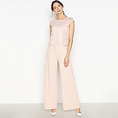 RJR.John Rocha - Pale Pink Lace Overlay Jumpsuit