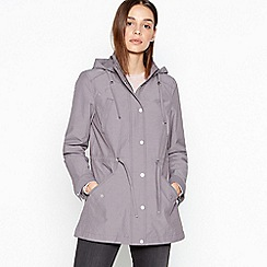 RJR.John Rocha - Grey Textured Four Pocket Hooded Jacket