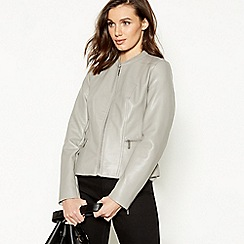 RJR.John Rocha - Grey Faux Leather Jacket