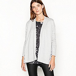 RJR.John Rocha - Light grey marble panel cardigan