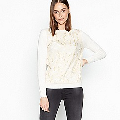 RJR.John Rocha - Natural Embellished Cotton Jumper