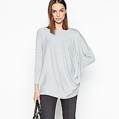 RJR.John Rocha - Light Grey Oversized Jumper