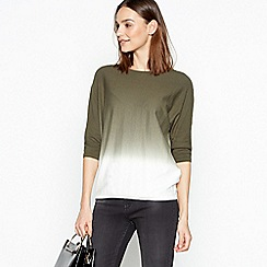 RJR.John Rocha - Khaki Ombre Knit Cotton Jumper