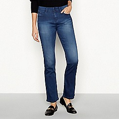 RJR.John Rocha - Dark blue 'Jenna' mid-rise bootcut jeans