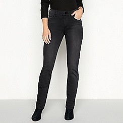 RJR.John Rocha - Black dark wash 'Elsa' regular fit straight leg jeans