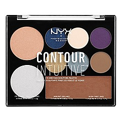 NYX Professional Makeup - 'Contour Intuitive™' jewel queens eye and face sculpting make up palette