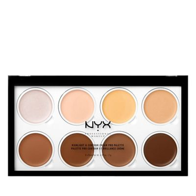 Nyx Professional Makeup   Highlighter And Contour Cream Pro Palette by Nyx Professional Makeup