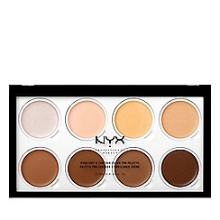 NYX Professional Makeup - Highlighter and contour cream pro palette