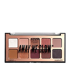 NYX Professional Makeup - 'Away We Glow' eyeshadow palette 10g