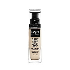 NYX Professional Makeup - 'Can't Stop Won't Stop' Full Coverage Liquid Foundation 30ml