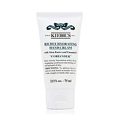 Kiehl's - Coriander Richly Hydrating Travel Size Hand Cream 75ml