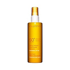 Clarins - 'Sun Care' very high protection UVB and UVA 50+ milk lotion spray 150ml