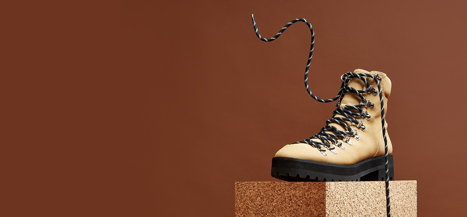 sneakers for cheap 4b6b7 358b6 Black 'Buck' Lace Up Hiker Boots