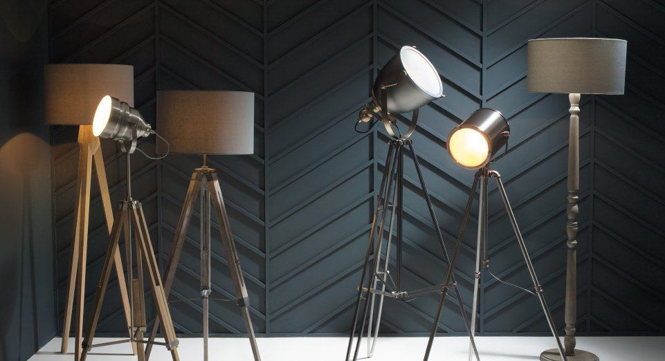 Floor fillers evoke the golden age of cinema with our vintage inspired cinematic floor lamps shop the look