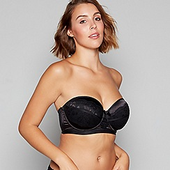 Gorgeous DD+ - Black 'Ella' underwired padded multi-way bra