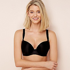 Freya - Black 'Deco' underwired moulded cups DD+ plunge bra