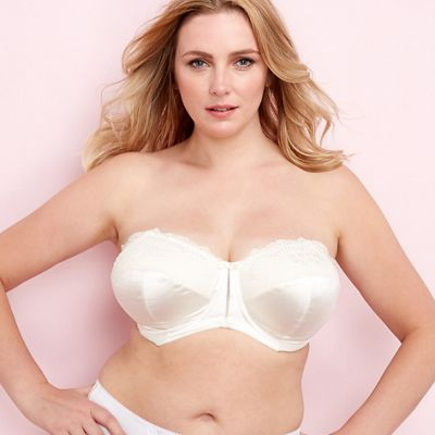 508a74e7ab92f Elomi Ivory  Maria  underwired padded DD+ strapless bra