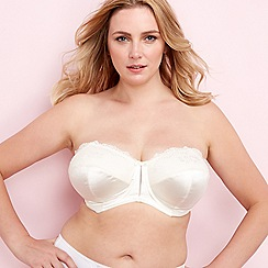 Elomi - Ivory 'Maria' underwired padded DD+ strapless bra