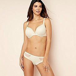 Gorgeous DD+ - Natural memory foam lace 'Ultimate Comfort' underwired padded t-shirt bra
