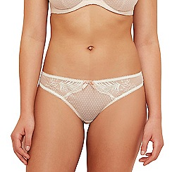 Gorgeous DD+ - Natural lace 'Jessie' Brazilian knickers