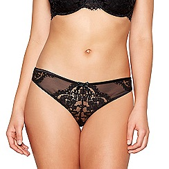Gorgeous DD+ - Black lace 'Ruby' Brazilian knickers
