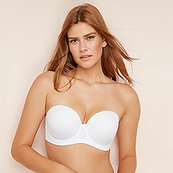 af67e7c465368 Gorgeous DD+ - White  Silicone Free  underwired padded multi-way bra