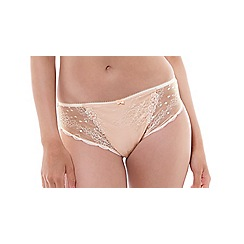 Fantasie - Natural cotton blend lace 'Ivana' bikini knickers