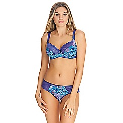 Freya - Blue floral print 'Chelsea Bloom' underwired side support full cup bra